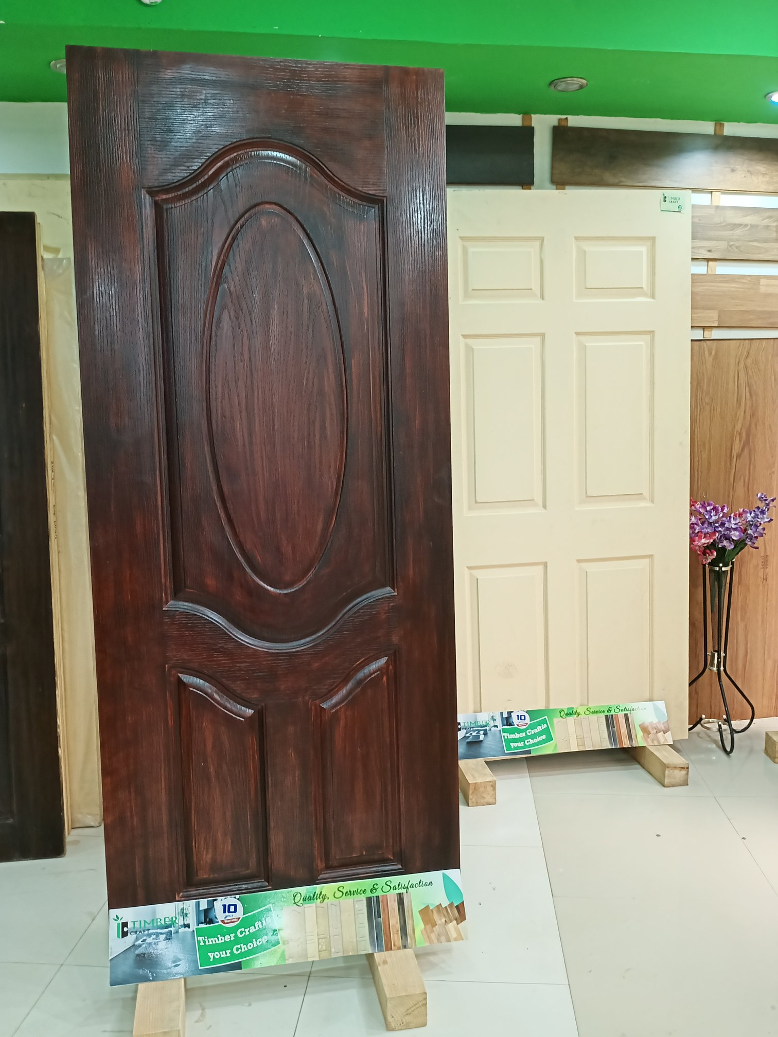 3 Panel Oval Design -Beautiful Oval Classic Timber Craft  exterior  door design for bath room ,balcony and interior .